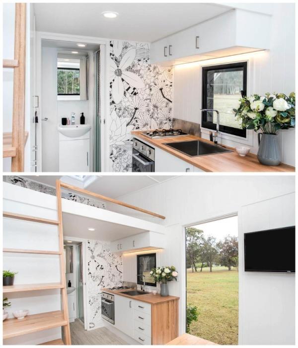 Кухня получилась функциональной и современной. | Фото: tinyliving.com.