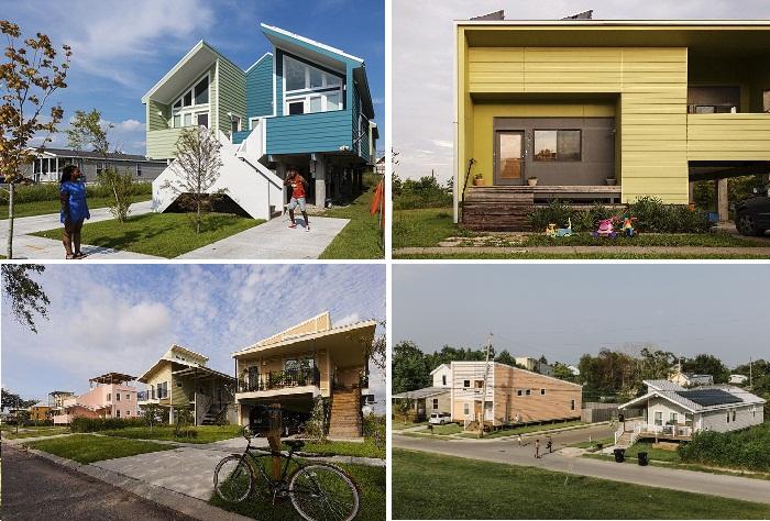 Жители имели возможность выбирать планировку и цвет дома.