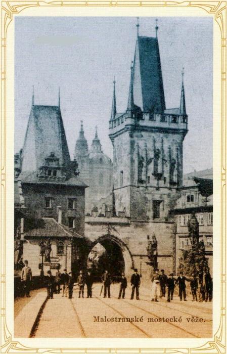 Карлов мост и Малостранские мостовые башни (1898 г., Прага). | Фото: praha-archeologicka.cz.