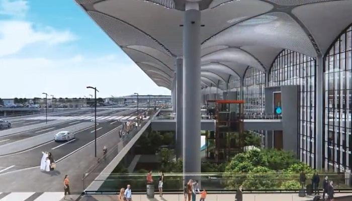 Вход в аэропорт «Стамбул» (Турция).