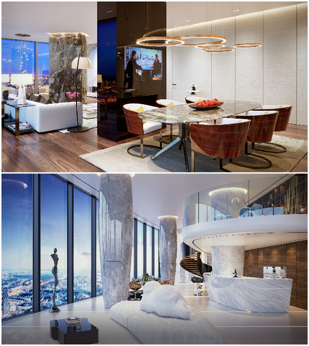 Самый высокий пентхаус в Европе ждет своего хозяина («Платиновые апартаменты», «Башня «Восток»).