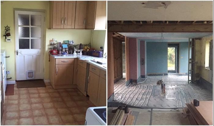 Пространство доставшейся кухни нужно было менять в первую очередь. © Michaela | The old piggery.