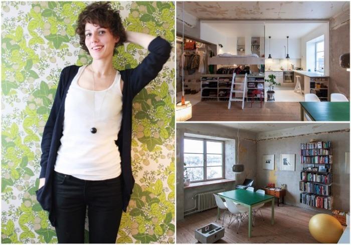 Карин Мац превратила заброшенный склад в комфортную квартиру с неординарным интерьером (Стокгольм, Швеция). | Фото: johbatesstudio.com/ karinmatz.se.