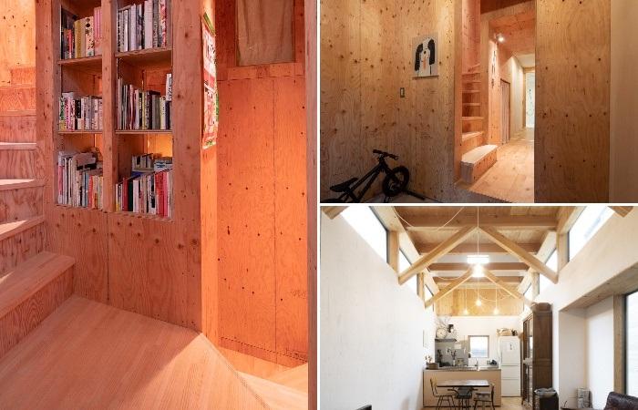 Главным украшением дома стало натуральное необработанное дерево. | Фото: designboom.com.