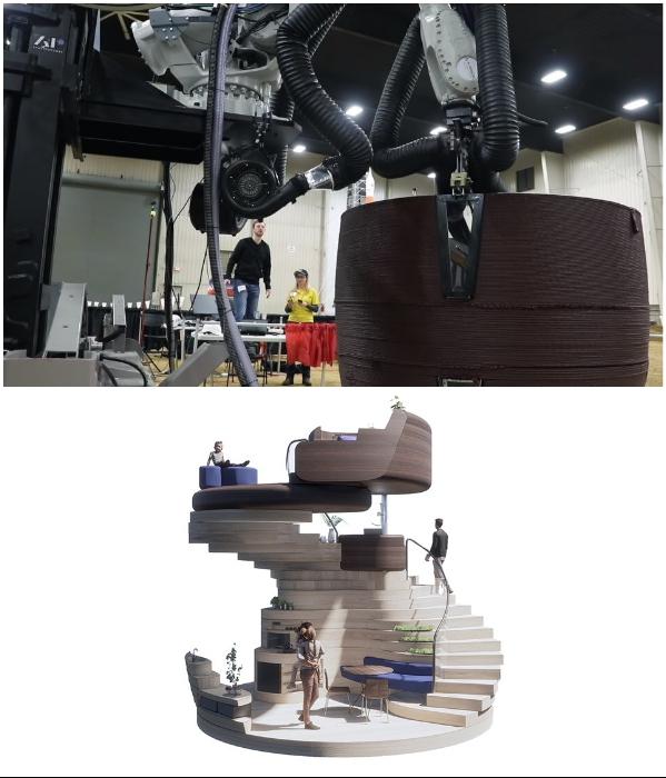 Уникальную капсулу, созданную для жизни на Марсе можно печатать на 3D-принтере с местных материалов. | Фото: architectmagazine.com/ forumdaily.com.