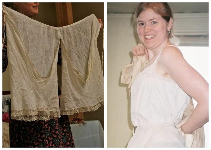 Нижнее белье Сара носит в викторианском стиле.