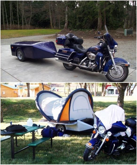 ScarabRV настолько легкий, что с его транспортировкой справится даже мотоцикл. newatlas.com.