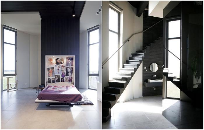 Стильный интерьер дома в водонапорной башне создавали специалисты дизайн-студией Bham (Стееноккерцель, Бельгия). | Фото: casavogue.globo.com.
