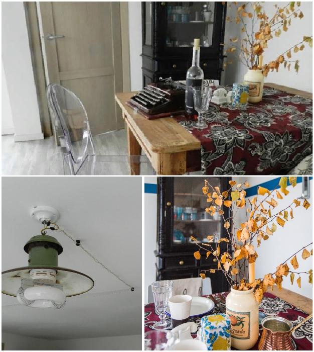Ксении нравится наполнять свой дом раритетными вещами и старинной мебелью («Небанальный дачный домик», Истра). © Xenia Naletova.