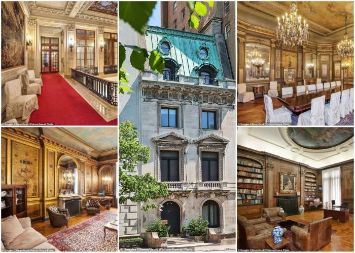 Интерьер великолепного особняка оформлен в стиле французского рококо периода Людовика XV.