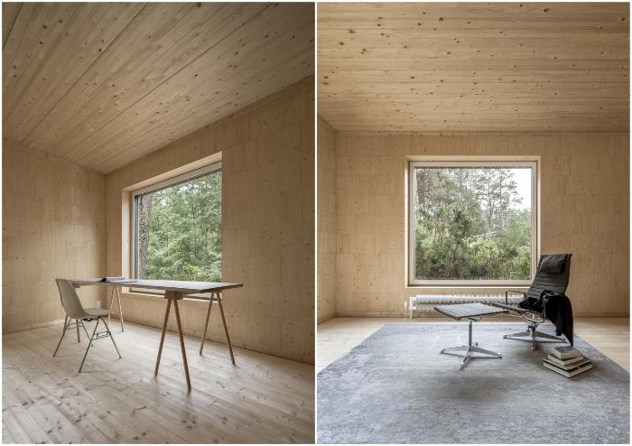 С таким оформлением внутреннего пространства много мебели не потребуется (Haus Koeris, Германия). © Zeller & Moye.
