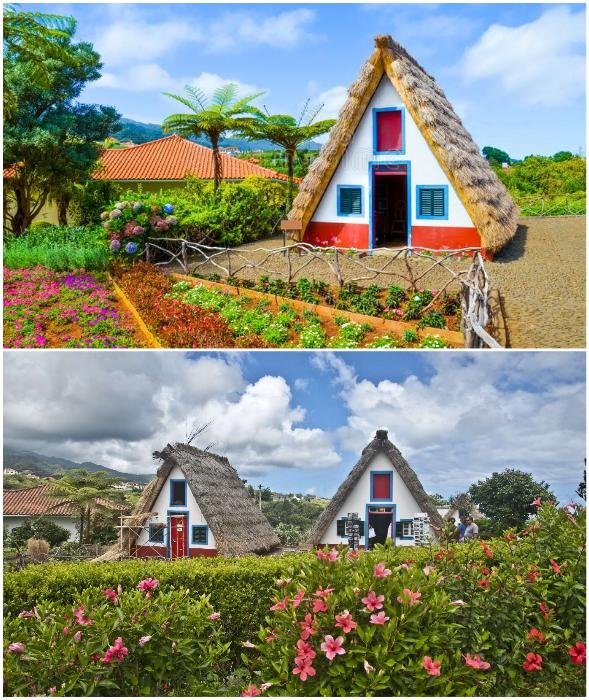 Колоритные домики можно увидеть в Сантане, там создан тематический парк традиционной культуры.