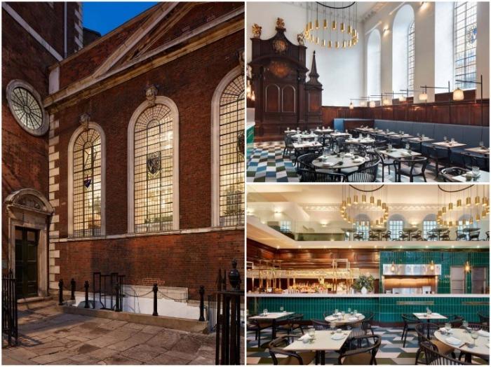 Лондонский филиал ресторана Duddell's в старинной церкви – идеальное место для гурманов и любителей современного искусства. | Фото: buro247.ua.