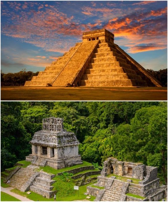Храм Кукулькана (Пирамида Эль-Кастильо) – многоступенчатая пирамида в городе майя Чичен-Ица. | Фото: mymodernmet.com.