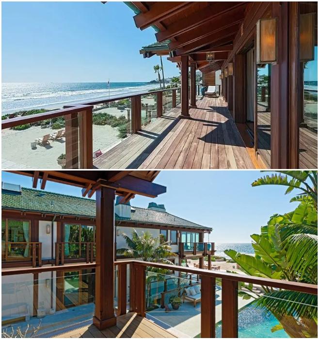 С балконов на втором этаже открывается фантастический вид на берег Тихого океана («Дом орхидей», Малибу). | Фото: bigpicture.ru.