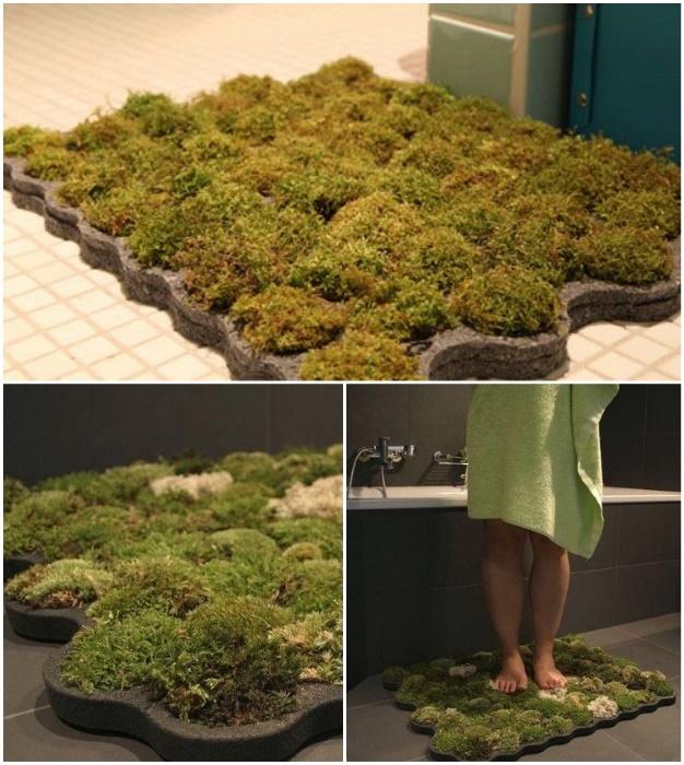 Теперь можно позволить себе прогуляться по «живому» коврику в собственной ванной комнате.