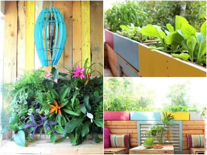 Когда установили ящики для цветов начал вырисовываться тропический уголок, о котором так мечтали супруги. | Фото: inhabitat.com.