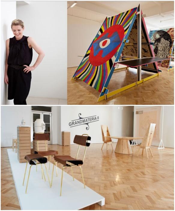 Либби Селлерс на одной из своих выставок. | Фото: plumevoyage.fr/ pamono.com.