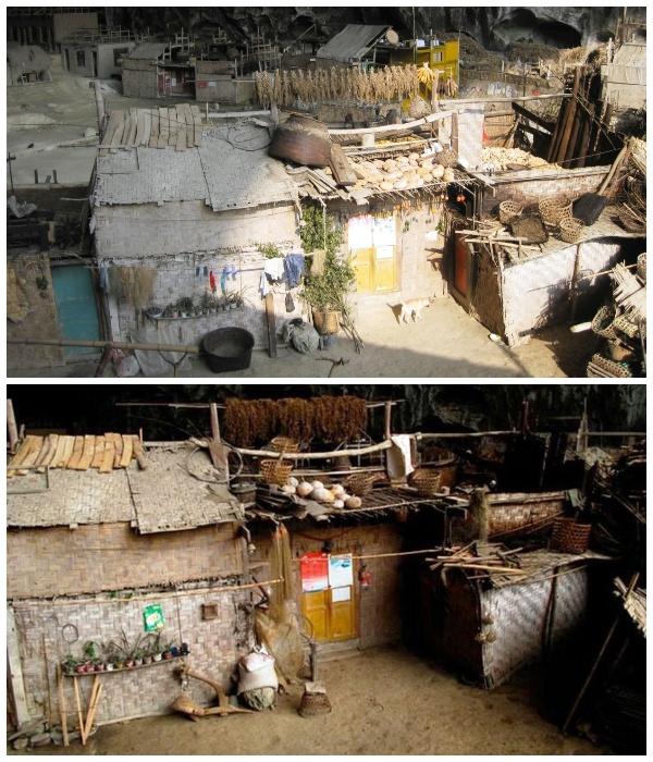 Подворья деревни Чжундун, расположенные в древней пещере. | Фото: youtube.com.