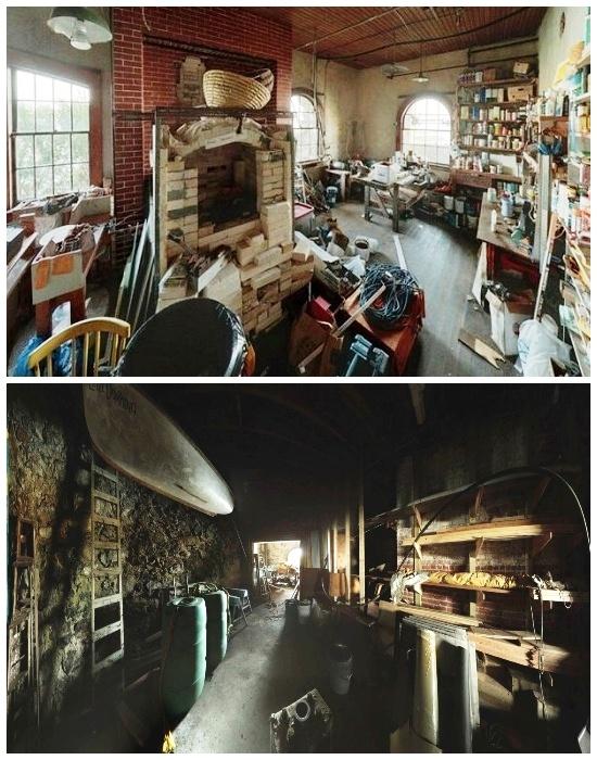 В доме есть просторная мастерская и место для хранения всех необходимых плавсредств (Clingstone House, залив Наррагансетт).