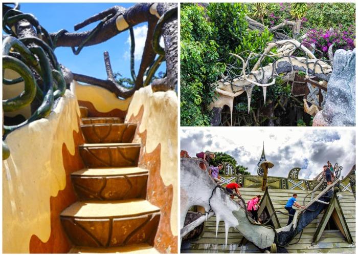 Огромное количество необычных лестниц, лабиринтов и переходов украшают гостиничный комплекс (Crazy House, Вьетнам).