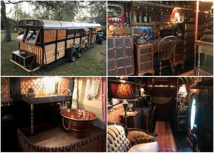 Из старого прицепа для лошадей создали роскошный дом-музей на колесах.