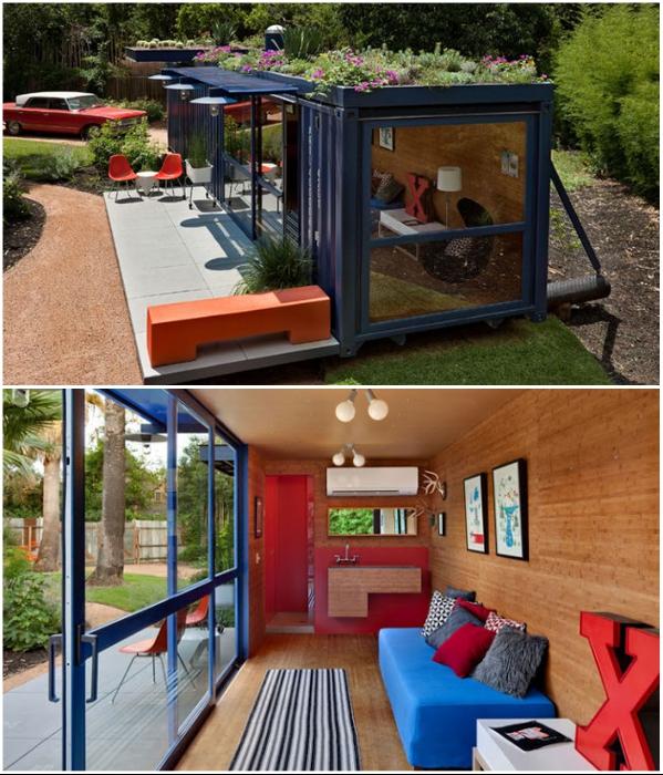 Эко-домик с клумбой на крыше создала компания Poteet Architects (Техас, США). | Фото: novamett.ru.