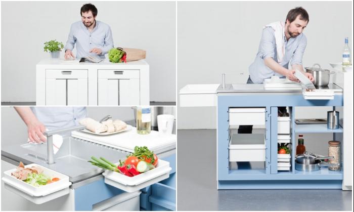 Многофункциональная кухня-столовая «Come together» от Альберта Сигера и Мартина Клинка. | Фото: remont-39.ru.