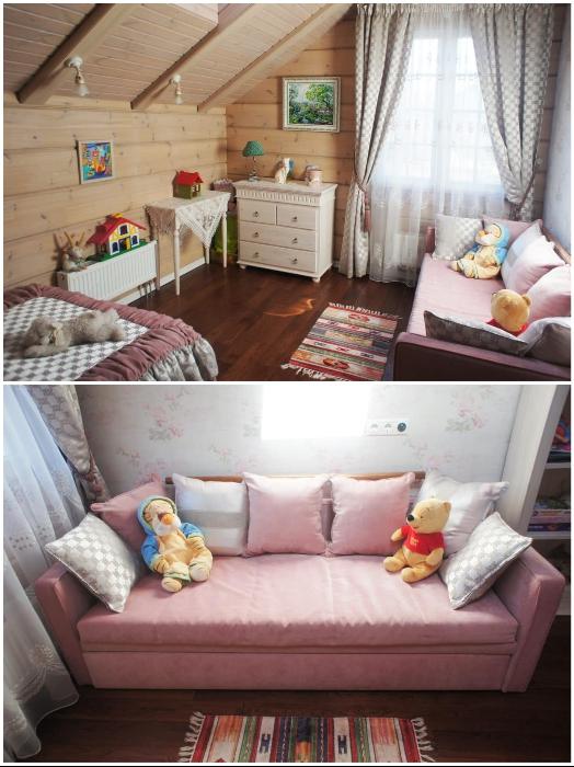 Интерьер комнаты для маленькой девочки выполнен с особым трепетом. | Фото: ko.jezyki24.info.