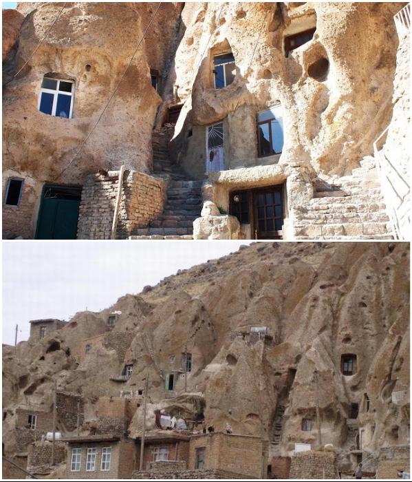Пещерным домам на северо-востоке Ирана уже более 700 лет. | Фото: ca-irnews.com/ mygazeta.com.
