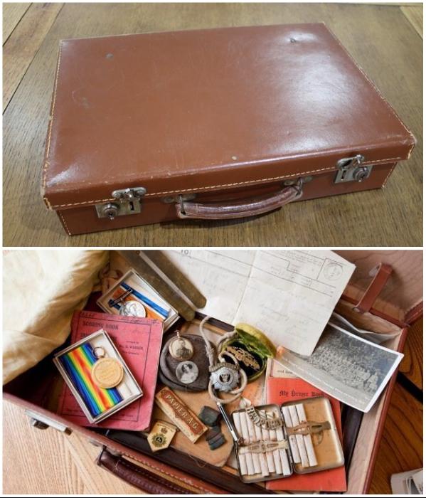 Удивительная находка: Капсула времени в чемодане погибшего солдата. | Фото: twitter.com/ © DanHillHistory.