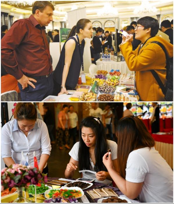 Чтобы определить вкусовые пристрастия китайцев, российские производители постоянно устраивают выставки и дегустации. | Фото: newslab.ru/ russian.cri.cn.
