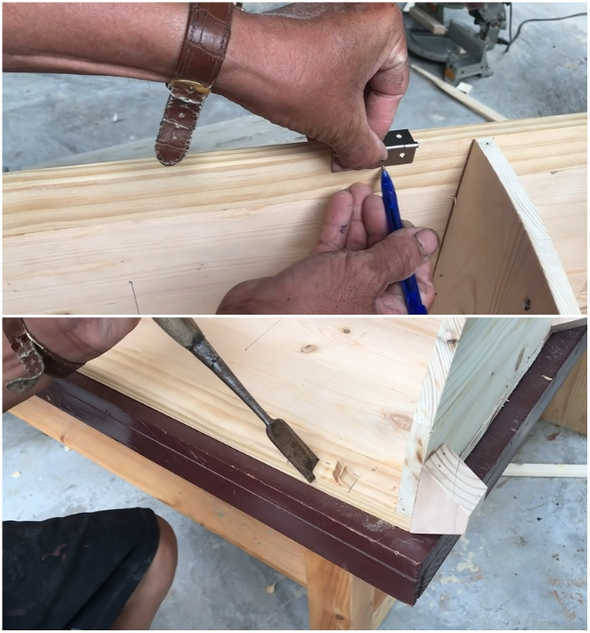 К установке петель нужно подойти очень ответственно. | Фото: youtube.com/ © Woodworking Tools.