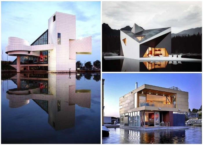 Дома на воде становятся популярным жильем, ведь они ни в чем не уступают обычным строениям. | Фото: budumuzhi.com.
