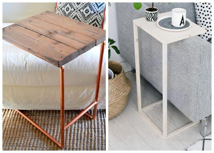 Приставной стол можно сделать из вторсырья.