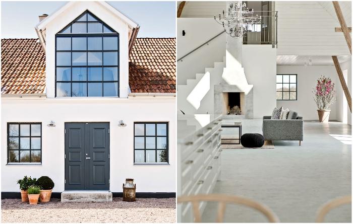 Вместо старинных амбаров создан фантастический загородный дом (Остерлен, Швеция). | Фото: socialhub.moderalofts.com.