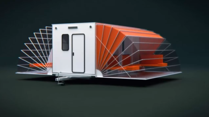 Обычный автофургон прячет за своими стенами благоустроенную квартиру (Макет фургона-трансформера). | Фото: youtube.com/ Wheelyhouse.