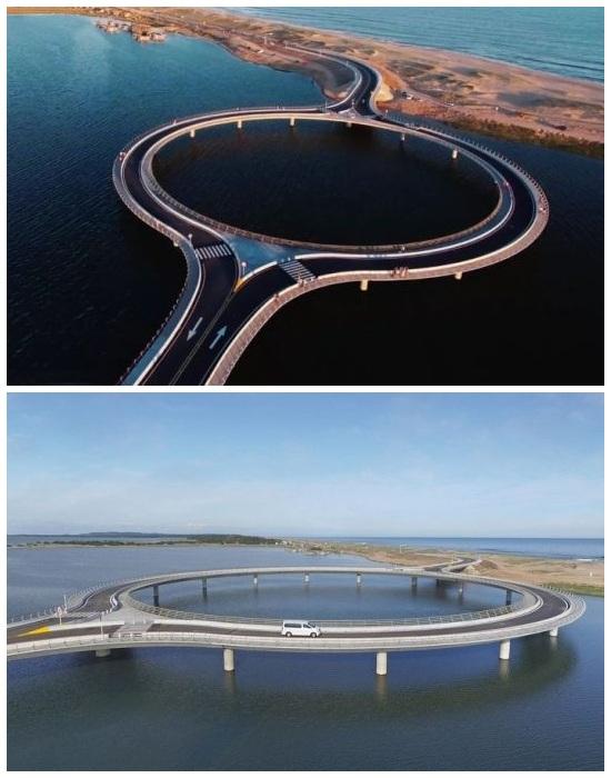 Круглый мост Round создан лишь для того, чтобы водители не превышали скорость (Уругвай).
