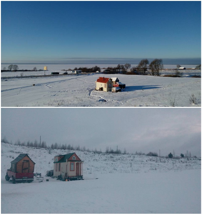 Если дом сделан качественно и правильно, то можно пережить даже морозы. | Фото: tiny-house.me.
