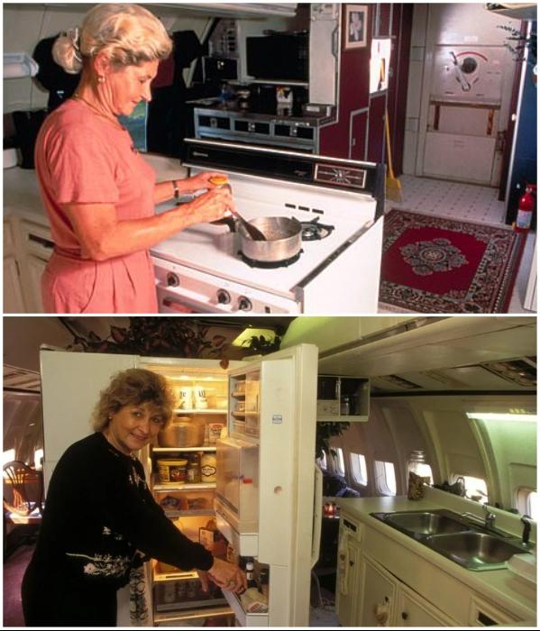 В кухне есть все необходимое для организации полноценного питания (дом-самолет «Little Trump»). | Фото: thesun.co.uk/ lemurov.net.