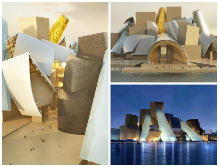 Музей абстрактного искусства в Абу-Даби станет самым большим из 5 музеев Гуггенхайма в мире (Guggenheim Abu Dhabi Museum, ОАЭ). | Фото: theartnewspaper.ru.