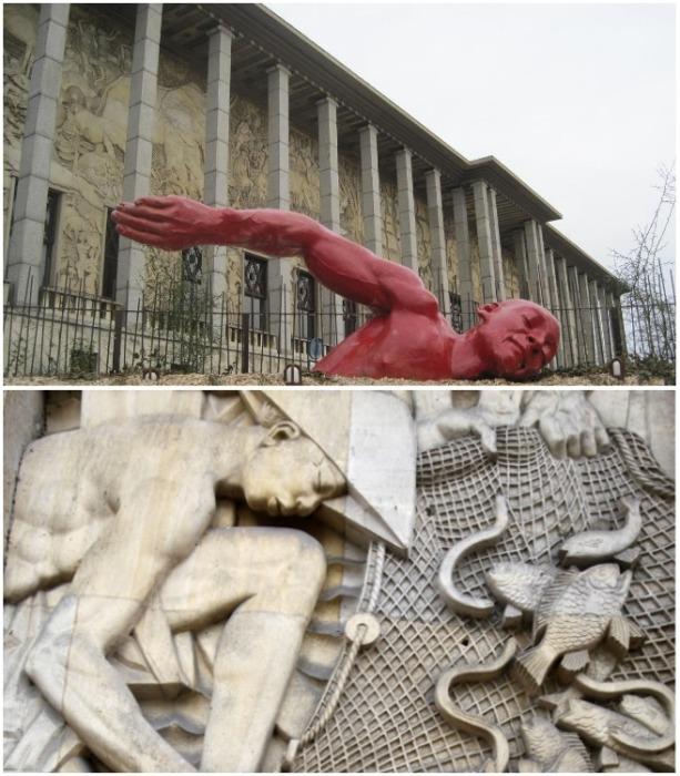 Фасад здания полностью украшен обширными барельефами площадью 1130 кв.м., созданным скульптором А. Джаниота (Le palais de la Porte Doree, Париж). | Фото: frenchparis.ru.