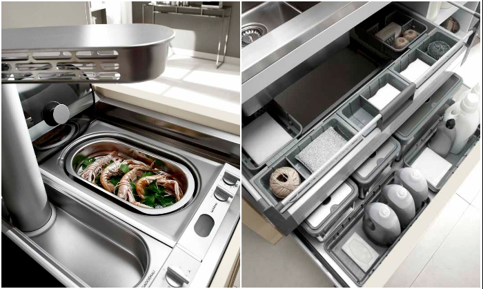 Несмотря на компактность, такой модуль поможет приготовить и сохранить еду («La Cucina 01»). | Фото: znakotveta.ru.