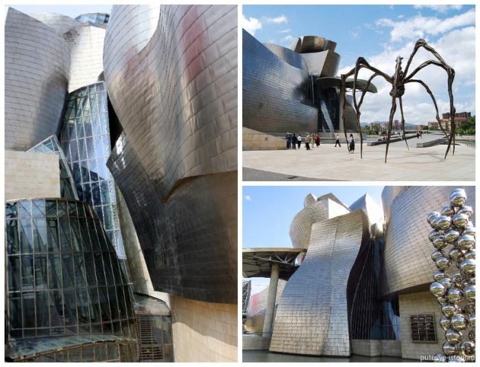 Удивительное здание, созданное из камня, стекла и титана не имеет ни одного прямого угла (Guggenheim Museum, Испания). | Фото: phototravelguide.ru.