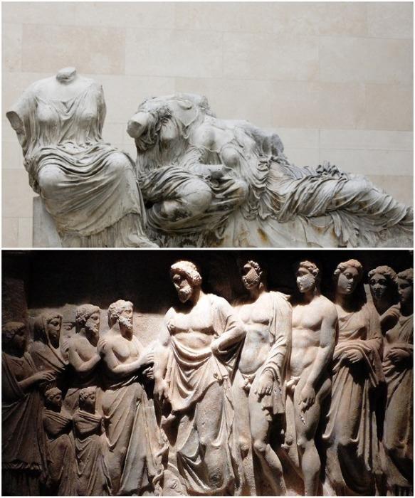Большая часть  сохранившихся скульптур из Парфенона хранятся в Британском музее. | Фото: russia.greekreporter.com.