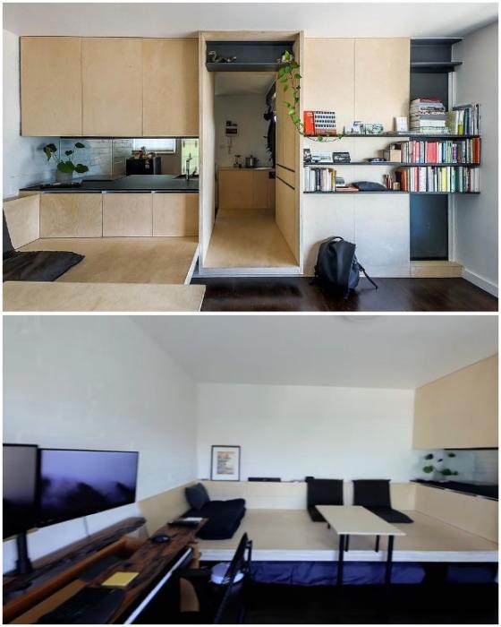 Большую часть квартиры занимает жилая зона. | Фото: youtube.com.