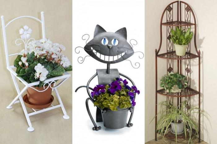 Подставки для цветов могут стать дополнительным украшением интерьера. | Фото: pinterest.com.