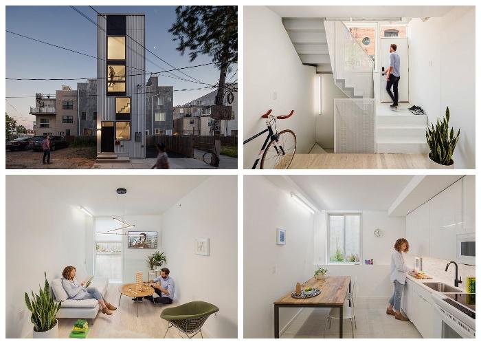 Даже на маленьком клочке земли получилось создать уютный и комфортабельный дом (Tiny Tower, Филадельфия).