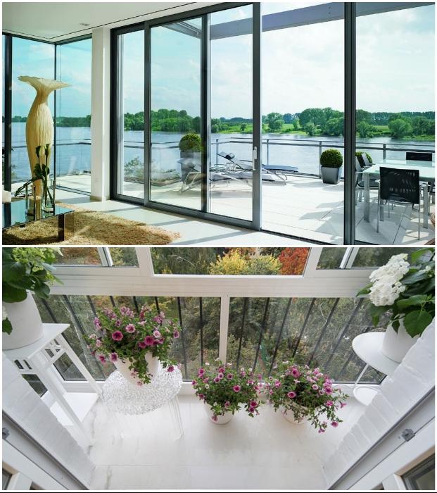 Если установить французские окна в квартире или на лоджии/балконе, то можно и в многоэтажке устроить зимний сад.