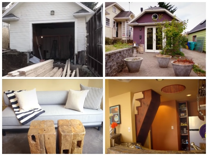Мартин Браун превратил обычный гараж в комфортный дом. | Фото: youtube.com.